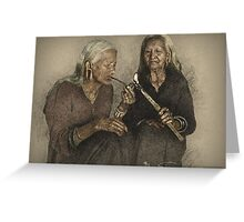 Indian Peace Pipe Greeting Card