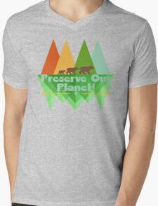 Preserve Our Planet Mens V-Neck T-Shirt