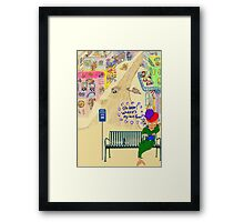 Oh Dear, Where's My Bus Fare Framed Print