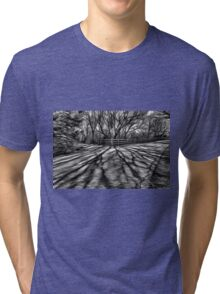 Black and white shadows Tri-blend T-Shirt