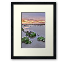 cable beach after sunset colours  Framed Print