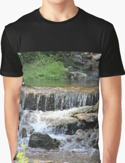 Summertime Falls at the Creek Graphic T-Shirt