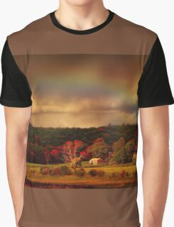 Rainbow over countryside  Graphic T-Shirt