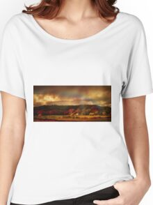 Rainbow over countryside  Women's Relaxed Fit T-Shirt