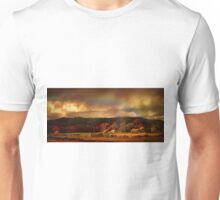 Rainbow over countryside  Unisex T-Shirt
