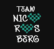 Team Nico Rosberg Heart- black bg Women's Fitted Scoop T-Shirt