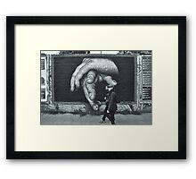 Breaking Through. (Berlin Wall) Framed Print