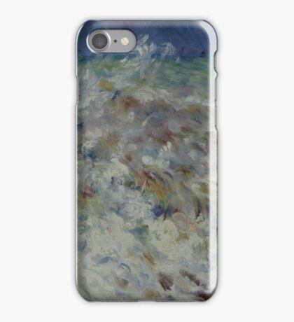 Auguste Renoir - The Wave 1882 Impressionism  Landscape iPhone Case/Skin