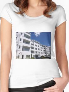 London Deco: Residences - Stanbury Court 1 Women's Fitted Scoop T-Shirt