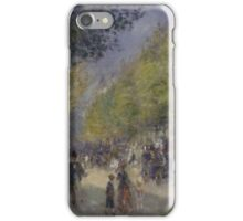 Auguste Renoir - The Grands Boulevards 1875  Impressionism Landscape iPhone Case/Skin