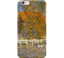 Auguste Renoir - The Duck Pond 1873 Landscape iPhone Case/Skin