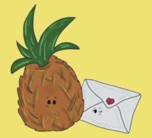 Even Pineapples Love Post.  One Piece - Short Sleeve