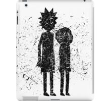 Grunge Rick and Morty Silhouette iPad Case/Skin