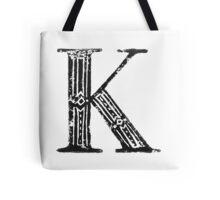 Serif Stamp Type - Letter K Tote Bag