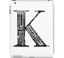 Serif Stamp Type - Letter K iPad Case/Skin