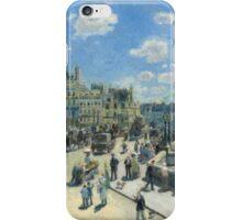 Auguste Renoir - Pont Neuf, Paris 1872 Impressionism  Landscape iPhone Case/Skin