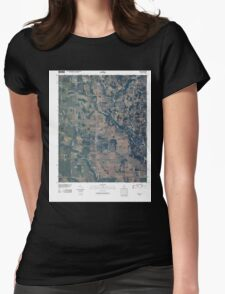USGS TOPO Map Alabama AL Fisk 20100426 TM Womens Fitted T-Shirt