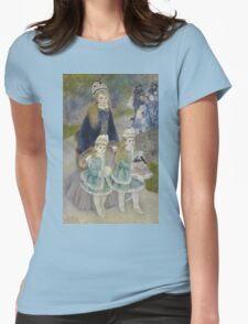 Auguste Renoir - La Promenade 1874 - 1876 Woman Portrait Womens Fitted T-Shirt
