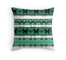 Bright abstract seamless lace pattern romantic print background Throw Pillow