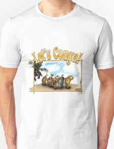 Tortoises and Turtles Conga Dancing on the Beach Unisex T-Shirt