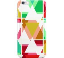 Seamless triangle bright pattern background geometric abstract texture iPhone Case/Skin