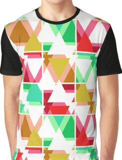 Seamless triangle bright pattern background geometric abstract texture Graphic T-Shirt