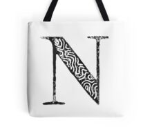 Serif Stamp Type - Letter N Tote Bag