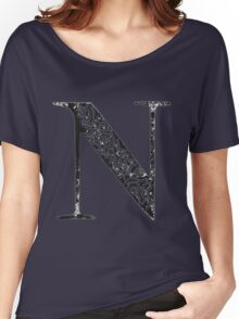 Serif Stamp Type - Letter N Women's Relaxed Fit T-Shirt