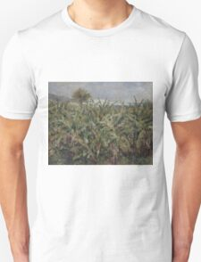 Auguste Renoir - Field of Banana Trees 1881  Impressionism, Landscape Unisex T-Shirt