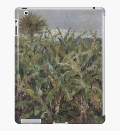 Auguste Renoir - Field of Banana Trees 1881  Impressionism, Landscape iPad Case/Skin