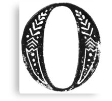 Serif Stamp Type - Letter O Canvas Print