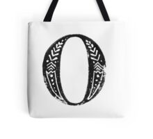 Serif Stamp Type - Letter O Tote Bag
