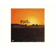 Samson & Goliath Art Print