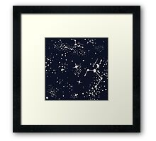 Zodiac Constellations in Cancer Framed Print