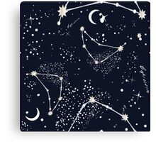 Zodiac Constellations in Capricorn Canvas Print