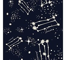 Zodiac Constellations in Gemini Photographic Print