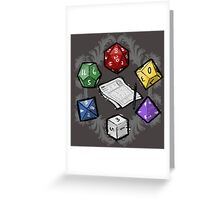 RPG DICE set and DICE PATTERN Greeting Card
