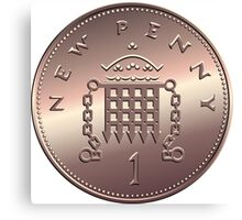 British new one penny Canvas Print