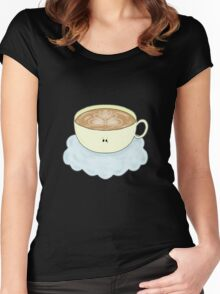 Cappuccino In The Clouds. Women's Fitted Scoop T-Shirt