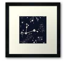 Zodiac Constellations in Aries Framed Print