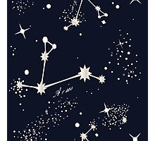 Zodiac Constellations in Aries Photographic Print