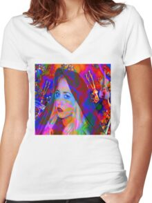 Lost in the Music Women's Fitted V-Neck T-Shirt