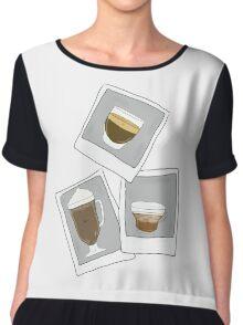 Photocoffees.  Chiffon Top