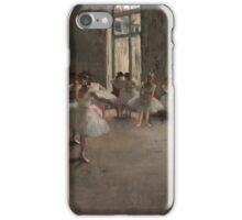Edgar Degas - The Rehearsal ,Impressionism  ballerina dancer iPhone Case/Skin