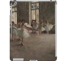 Edgar Degas - The Rehearsal ,Impressionism  ballerina dancer iPad Case/Skin