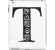 Serif Stamp Type - Letter T iPad Case/Skin