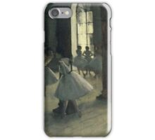 Edgar Degas - La Repetition au foyer de la danse,Impressionism  ballerina dancer iPhone Case/Skin