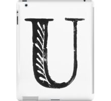 Serif Stamp Type - Letter U iPad Case/Skin