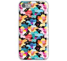 Seamless graphic pattern with beautiful flowers  iPhone Case/Skin