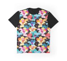 Seamless graphic pattern with beautiful flowers  Graphic T-Shirt